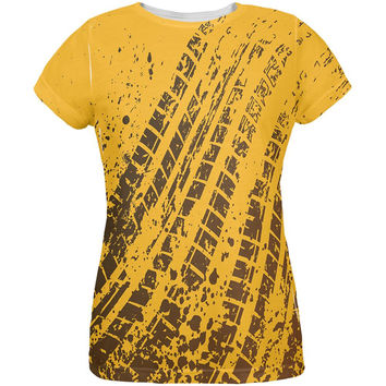 Mud & Tire Tracks All Over Womens T-Shirt