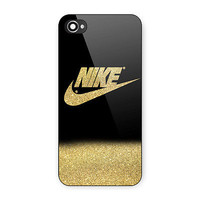Cheap Latest Nike Gold Glitter Printed Awesome Design Hard Case for iPhone 7Plus