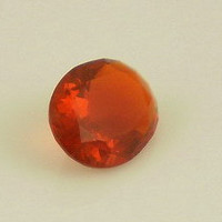 Fire Opal: 0.74ct Cherry Red Oval Shape Gemstone, Loose Natural Hand Made Mexican Faceted Precious Gem, Metal Clay Supply, Cocktail Ring O16