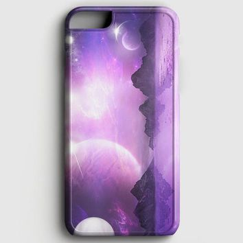 Sky Moon Mountains Space iPhone 6 Plus/6S Plus Case