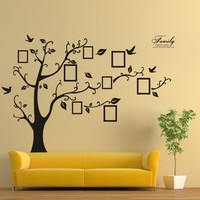 2016 Wall Stickers Home Decor Family Picture Photo Frame Tree Wall Quote Art Stickers PVC Decals Home Decor wallpaper House