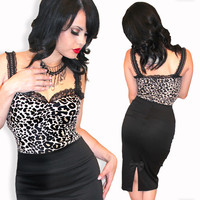 Dolly Leopard Pinup Top