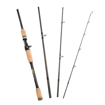 4 Sections Baitcasting/ Spinning Fishing Rod + Fishing Vest as Gifts RU Stock Rod 2.1M/2.4M Vava De Pesca Saltwater
