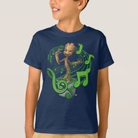 Guardians of the Galaxy | Baby Groot Music Notes T-Shirt