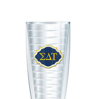 Sigma Delta Tau Tumbler -- Customize with your monogram or name!