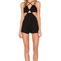 RVCA Only A Little Romper in Black