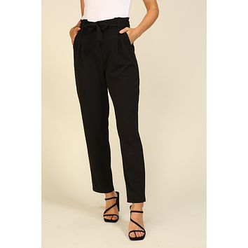 Techno Crepe Pants - Black