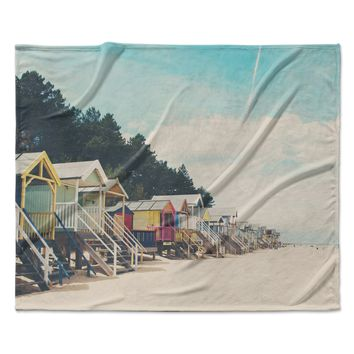"Laura Evans ""Small Spaces"" Beach Coastal Fleece Throw Blanket"