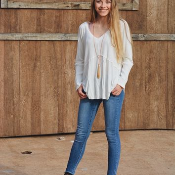 The Lola Top- Ivory