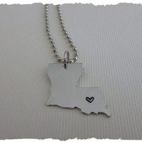 Louisiana State Necklace - Make a STATEment
