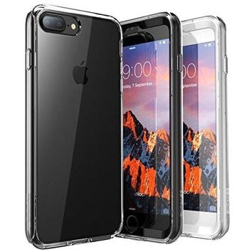 iPhone 7 Plus Case, iPhone 8 Plus Case, SUPCASE Ares Bumper Case with Built-in Screen Protector for Apple iPhone 7 Plus 2016 / iPhone 8 Plus 2017, Clear