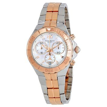 TechnoMarine Sea Pearl Chronograph Mother of Pearl Dial Ladies Watch 715002