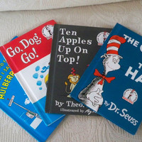 Vintage Books Children's Dr. Seuss Set of Four I Can Read Beginner Reader Instant Library