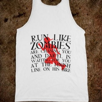 Run Like Zombies Are Chasing You and Daryl is Waiting for You On His Bike Tank