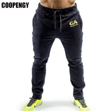 2017 New Men's Cotton Performance Lounge Pants Fashion Fitness Workout Pants Casual Sweatpants Trousers Jogger Pants Homewear