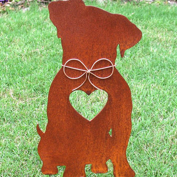 Jack Russell Terrier Dog Metal Garden Stake - Metal Yard Art - Metal Garden Art - Pet Memorial 2