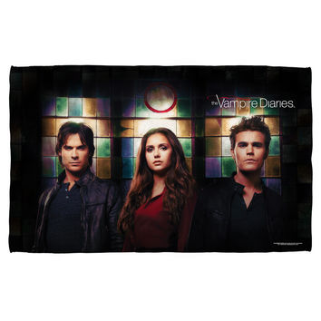 VAMPIRE DIARIES/STAINED GLASS-BEACH TOWEL-WHITE-36x58
