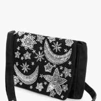 Daisy Moon & Stars Embellished Cross Body | Boohoo