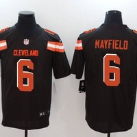 Cleveland Browns #6 Baker Mayfield Men's Vapor Untouchable Limited Jersey Brown