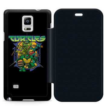 Ninja Turtles Movie Leather Wallet Flip Case Samsung Galaxy Note 4