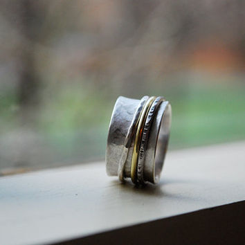 mother's SPIN ring by AutumnSunJewelry on Etsy