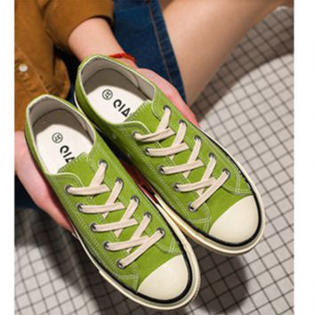 """""""Converse"""" Fashion Canvas Flats Sneakers Sport Shoes low tops mint green"""