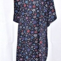 Plus Size 5X 6X  Dreams Co Nightgown Blue Red Hearts New
