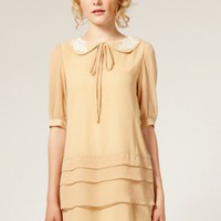 Other Doll Collar Apricot Layered Dress  style zl827096