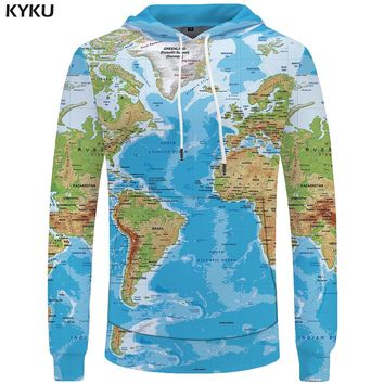 World Map shirt 3d Men Cool Anime Hoody Man