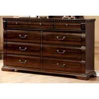 Sumptuous Handy Wooden Dresser, Cherry Brown