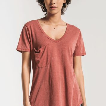 The Pocket Tee- Mesa Red