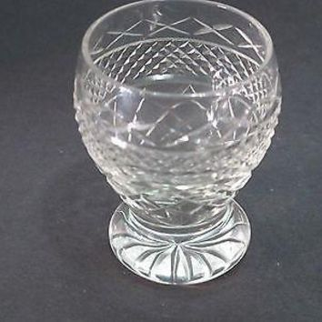 Hand Cut glass shot glass