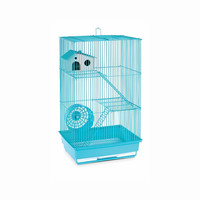 Prevue Hendryx Three Story Live Animal One Top Door Hamster And Gerbil Cage, Color - Mint Green