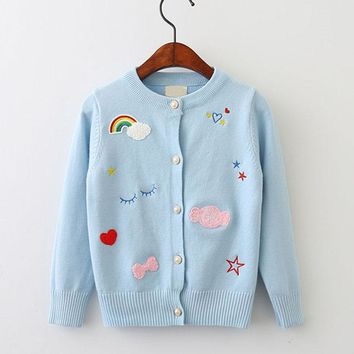 Rainbow, clouds and everything Nice Cardigan