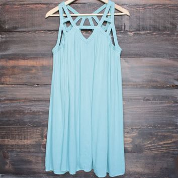 cage flowy dress in mint