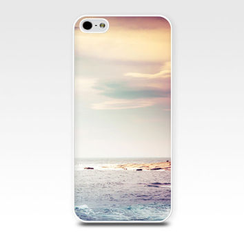 sunset iphone case beach scene iphone 5s case iphone 4s case water iphone case lilac pastel sky iphone case iphone 4 case 5 fine art iphone