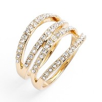 Women's Rebecca Minkoff Stack Ring - Gold/ Crystal