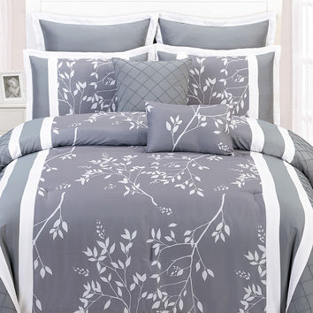 Duck River Riverbank Comforter Set - Grey -