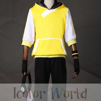 Hot  Go Male Trainer Team Instinct Mystic Valor Yellow Cosplay Costume Halloween CostumeKawaii Pokemon go  AT_89_9