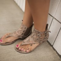 Bronze Adele Side Lace Sandals