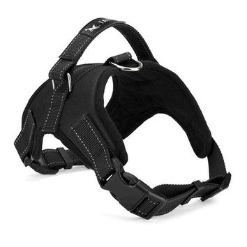 VONFC9 Large Dog Harness Padded Chest Strap Heavy Duty with Handle Comfortable for Labrador Golden Retriever Samoyed Husky Dogs-L