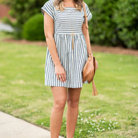 Sassy In The Spring Dress, Navy