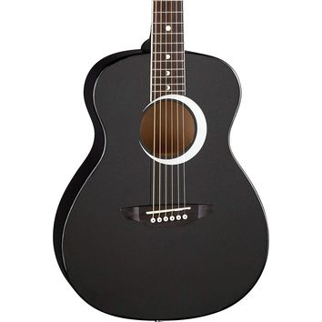 Luna Aurora Borealis Three Quarter Acoustic Guitar, Black