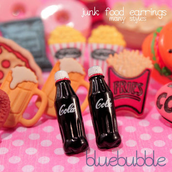 FUNKY JUNK FOOD EARRINGS CUTE KITSCH RETRO KAWAII AMERICAN SNACK FOOD EMO SWEET