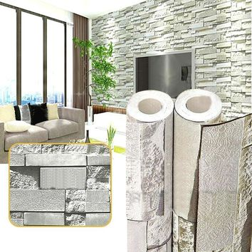 Vintage Wall Paper Waterproof Wall Papers Brick Home Decor 3D Imitation Rock Stone Vinyl Self-Adhesive Wallpaper For Walls