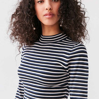 Silence + Noise Striped Cropped Turtleneck Sweater | Urban Outfitters
