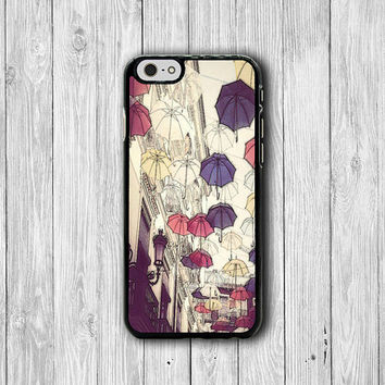 Vintage Color Umbrella Sky iPhone Cases, Cute iPhone 6 Cover, iPhone 6 Plus, iPhone 5 Hard Case, Soft Rubber,Decoration Accessories Gift