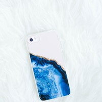 Blue Geode Phone Case