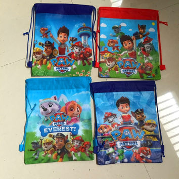 New various carton non-woven fabrics of dog patrol drawstring backpack event & party gift bag paws shopping bag vest bag