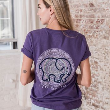 Ella Fit Purple Reign Circle Mandala Tee